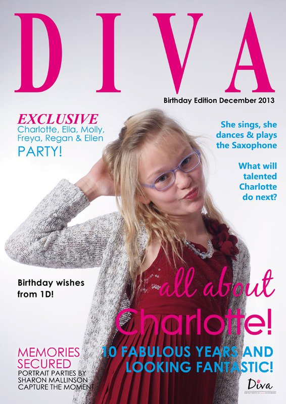 Birthday Party idea for 10 year old Diva Portrait Parties